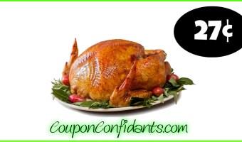 27¢ per lb Frozen Turkey at Food Lion! Lowest price so far!