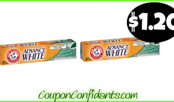 Arm & Hammer Toothpaste only $1.20 at Publix!