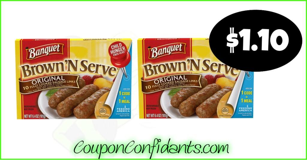 Banquet Brown N Serve Sausage at Publix!!