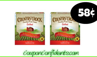 58¢ Country Crock Sticks at Publix! WOW!!