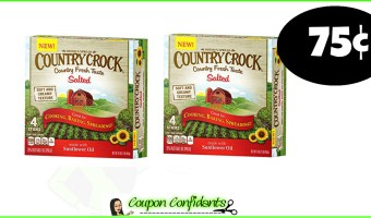 75¢ Country Crock Butter Sticks at Publix! 12/5 only!