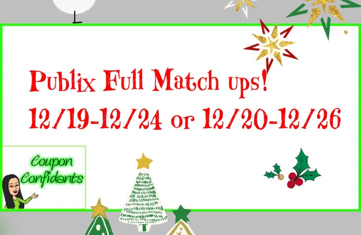 Publix Full Match ups! Dec 19-24 or Dec 20-26!