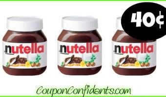 Nutella Hazelnut Spread 40¢ at Publix!