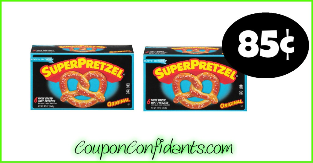 Superpretzels 85¢ for Bilo $1.35 for Winn Dixie!