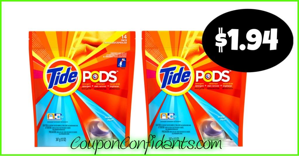 $1.94 Tide Pods at CVS!! HOT DEAL!