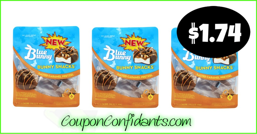 Blue Bunny Ice Cream Snacks only $1.74 at Publix!