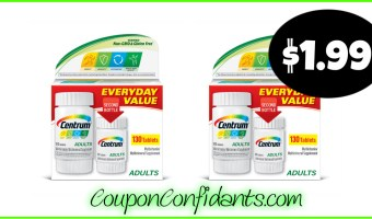 Centrum 130 ct only $1.99 at Publix! WOW! (Money MAKER for some!)