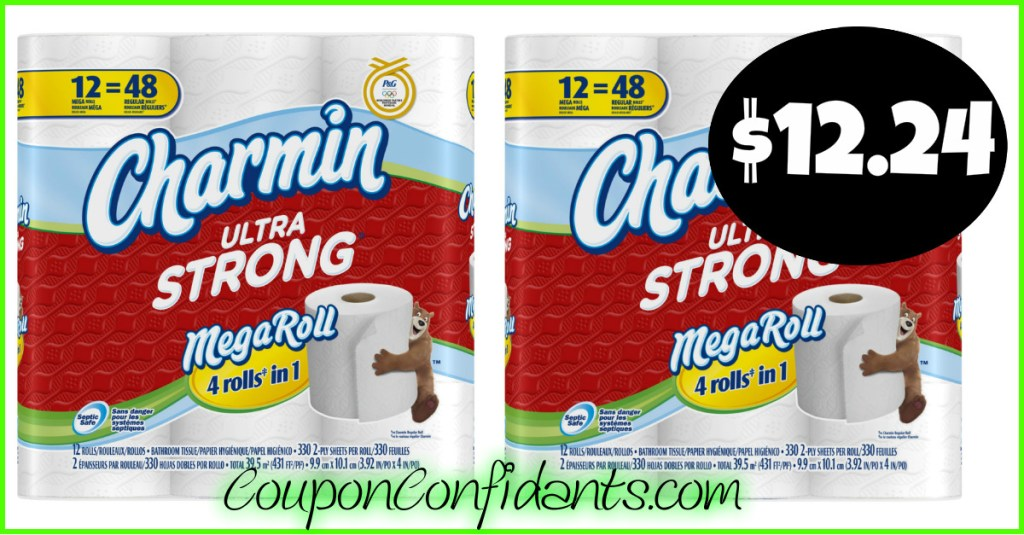 Charmin Bath Tissue $13.49 for the MEGA rolls at Target!