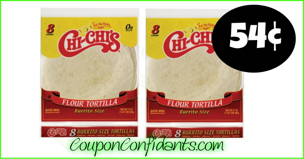 Chi Chi's Tortillas only 54¢ at Ingles Supermarkets!