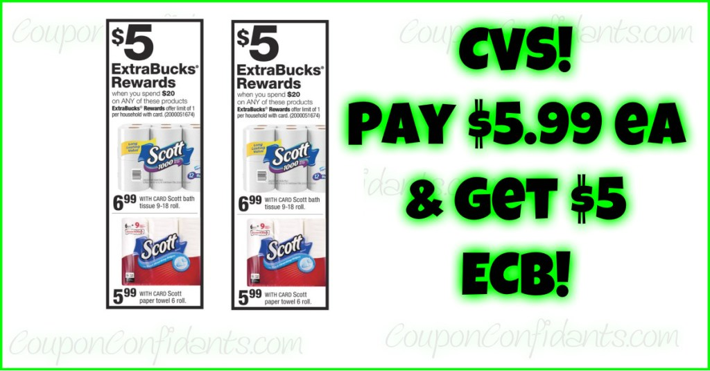 Stock up on Paper Goods at CVS! Scott Deal that ANYONE can do!