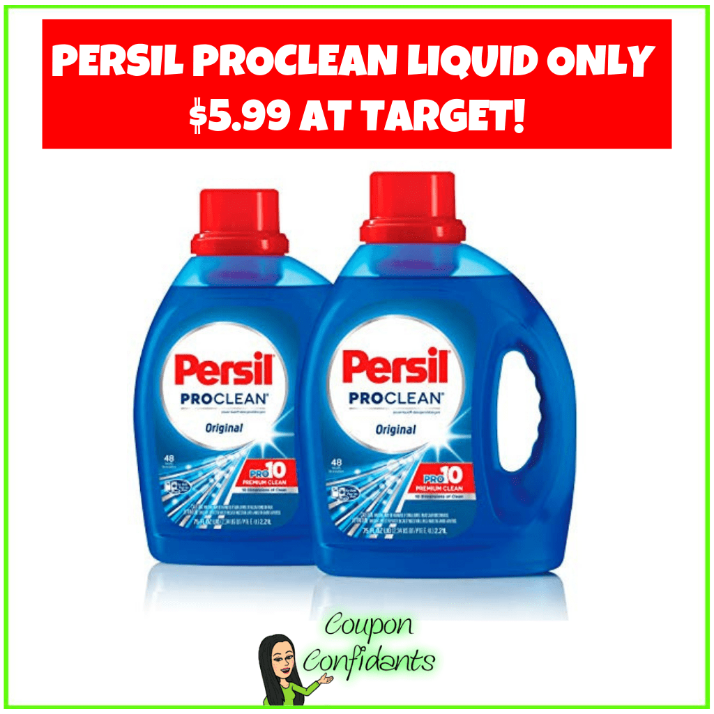 Persil ProClean Liquid Only $5.99 at Target!