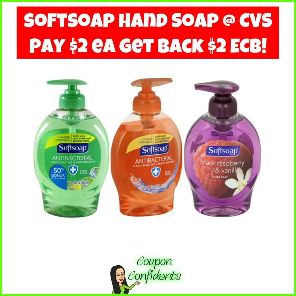 Softsoap Hand Soap $1 each at CVS after ECB'S!