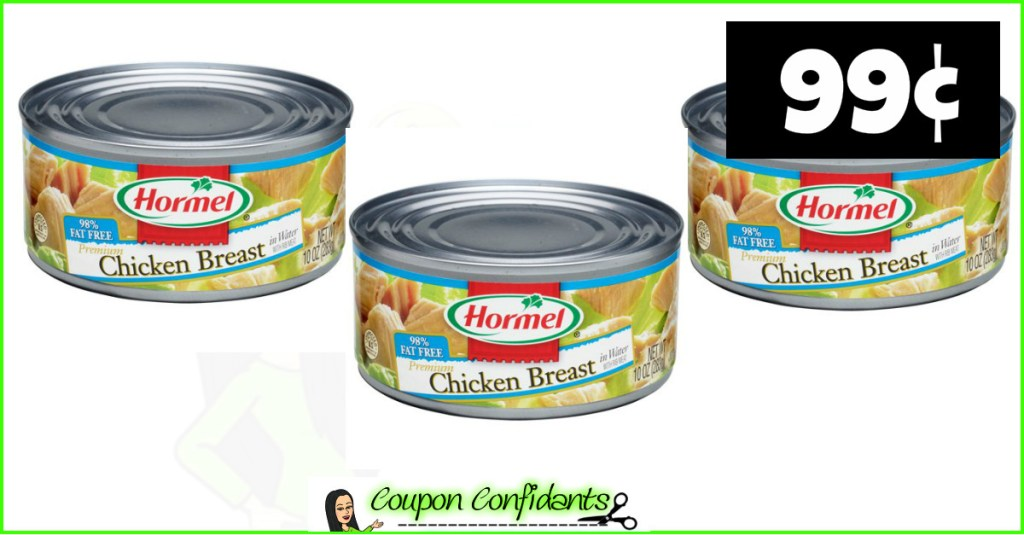 Hormel Chicken 99¢ at Winn Dixie and Bilo!