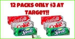 $3 12 packs at Target!! Run!