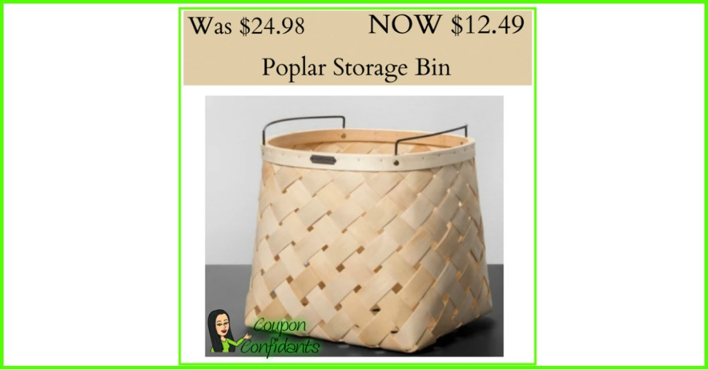 Look at this Adorable Poplar Storage Bin at Target.com!