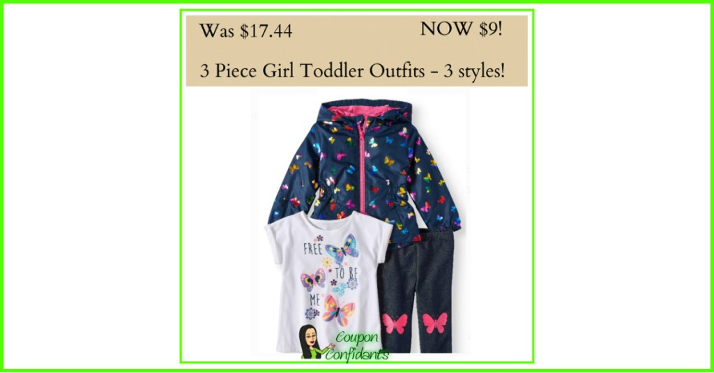 3 Piece Toddler Sets on Walmart Clearance going FAST!! RUN!