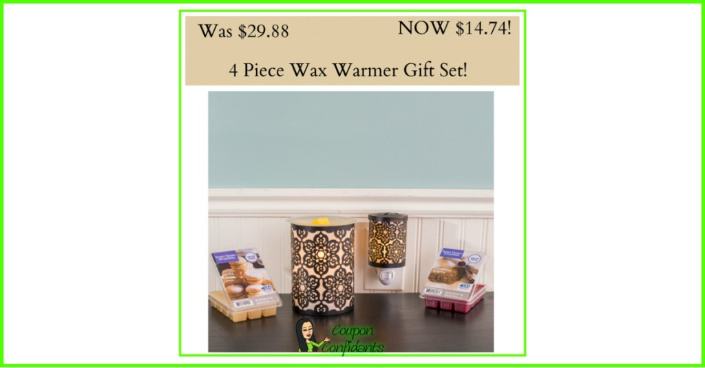4 Piece Wax Warmer Gift Set only $14.74! $29 Value!