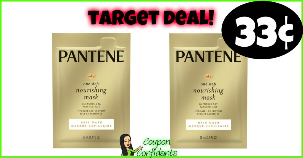 Pantene Hair Masks 33¢ each at Target!