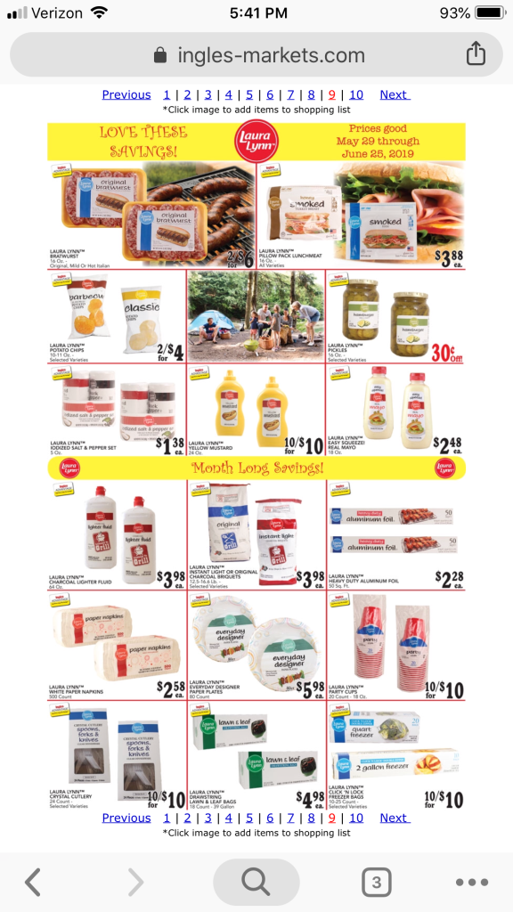 Ingles Supermarkets AD scan June 5-11