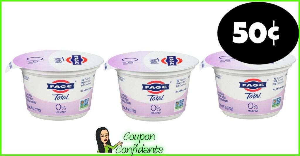 Fage Yogurt 50¢ each at Publix!