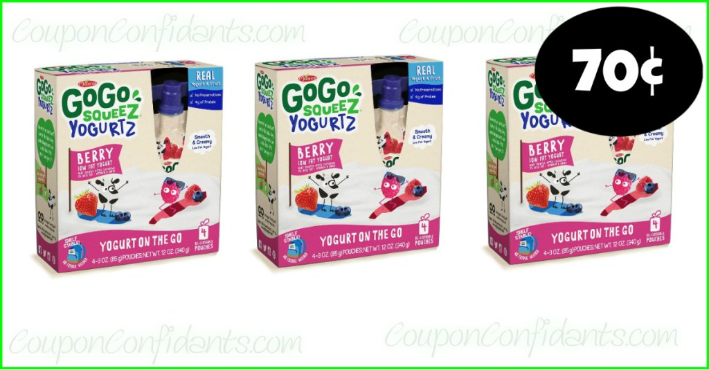 GoGo Squeez Yogurtz 70¢ at Publix!