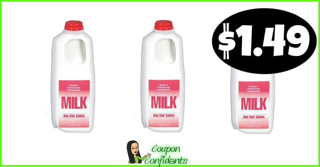 1/2 Gallon of Milk $1.49 at CVS!