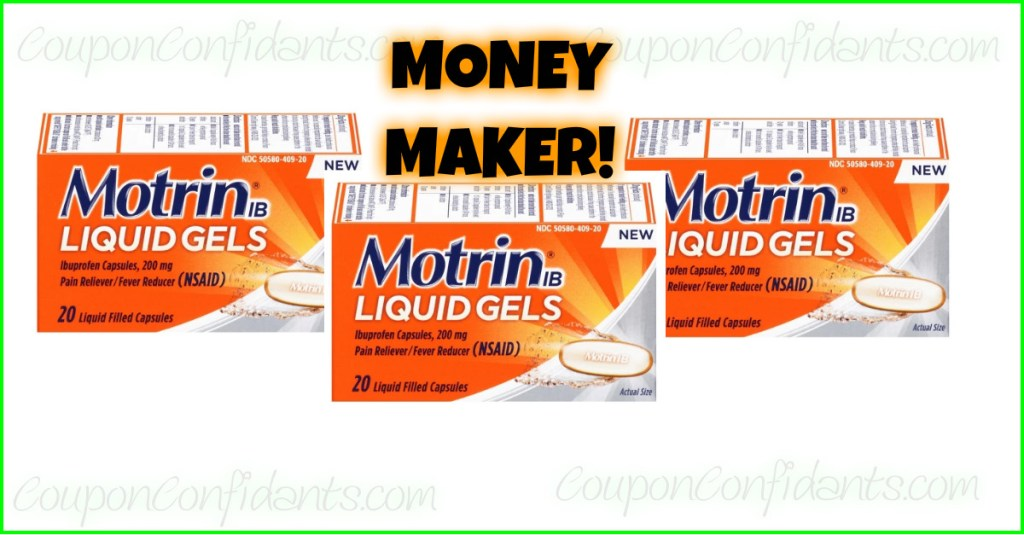 MONEY MAKER MOTRIN AT WALMART AND TARGET!