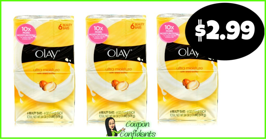 Olay Bar Soap 6 ct only $2.99 at Publix!!