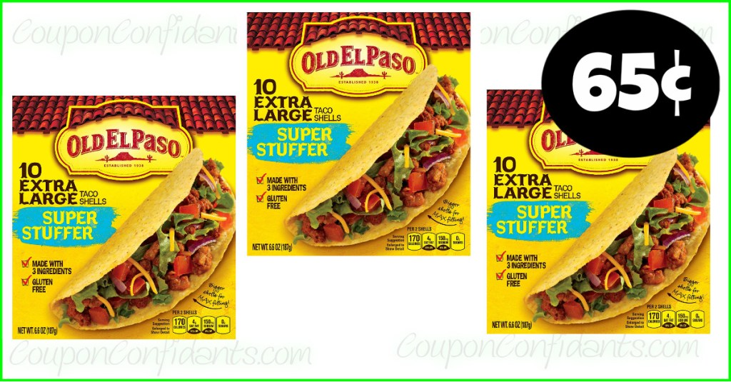 Old El Paso Shells as low as 65¢ at Winn Dixie and Bilo! YES!