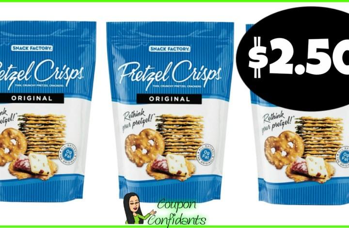 Snack Factory Pretzel Crisps $2.50 BIG Bag at Target!
