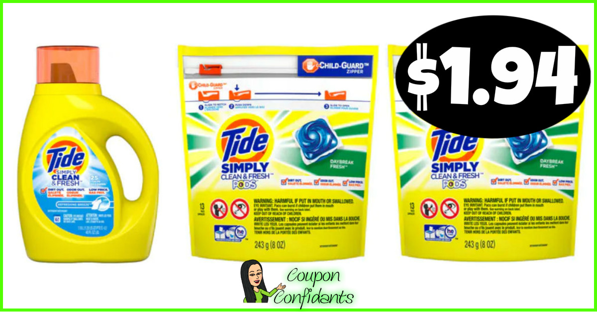 image regarding Tide Simply Clean Printable Coupons referred to as Tide Easily $1.94 at CVS! ⋆ Coupon Confidants