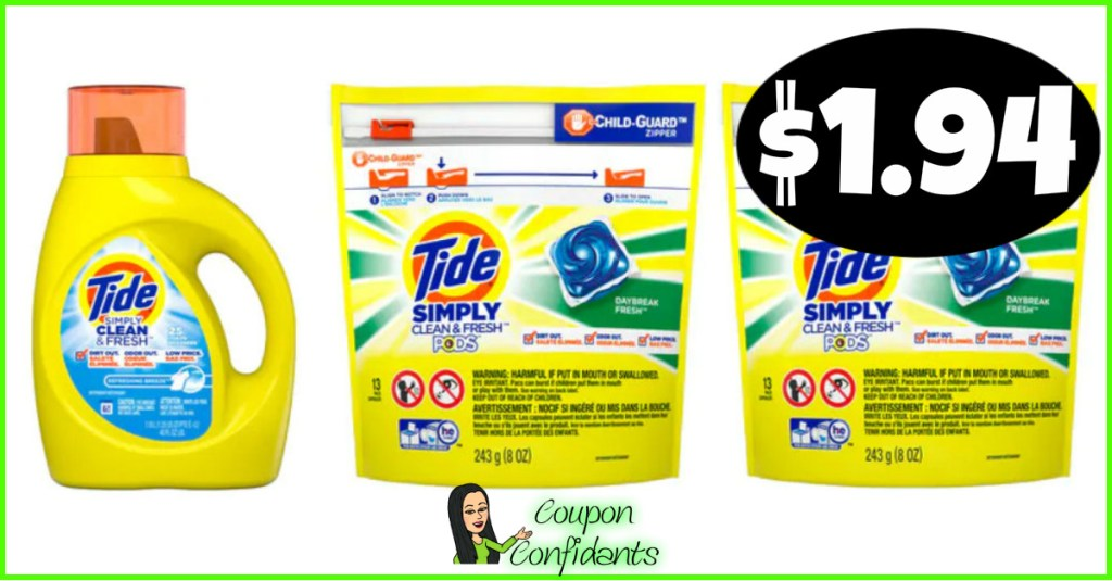 Tide Simply $1.94 at CVS!