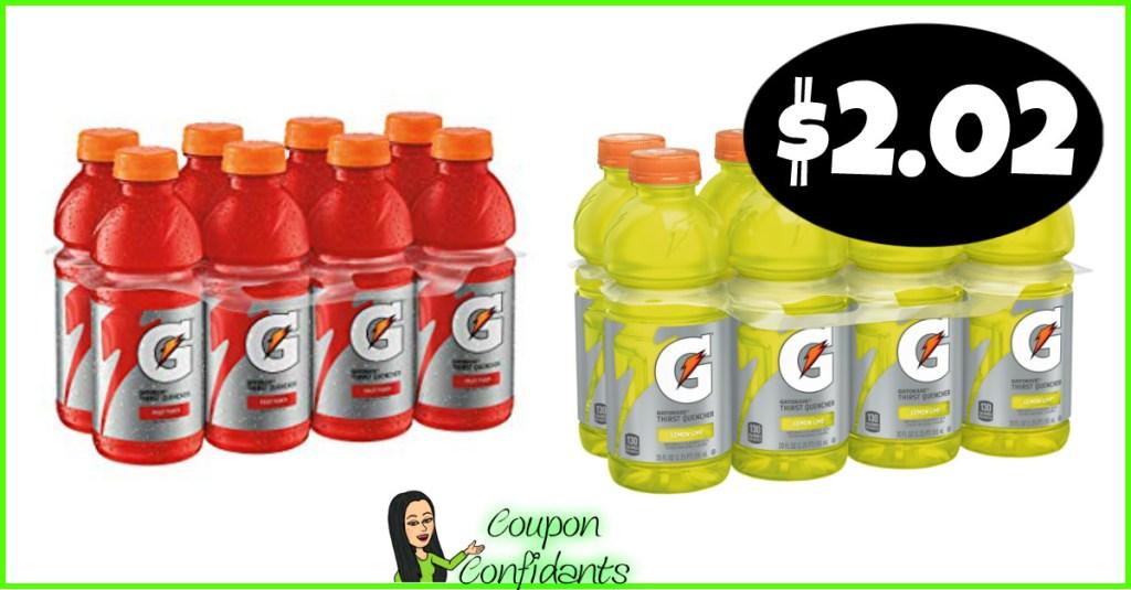 Gatorade 8 packs $2.02 each at Publix!