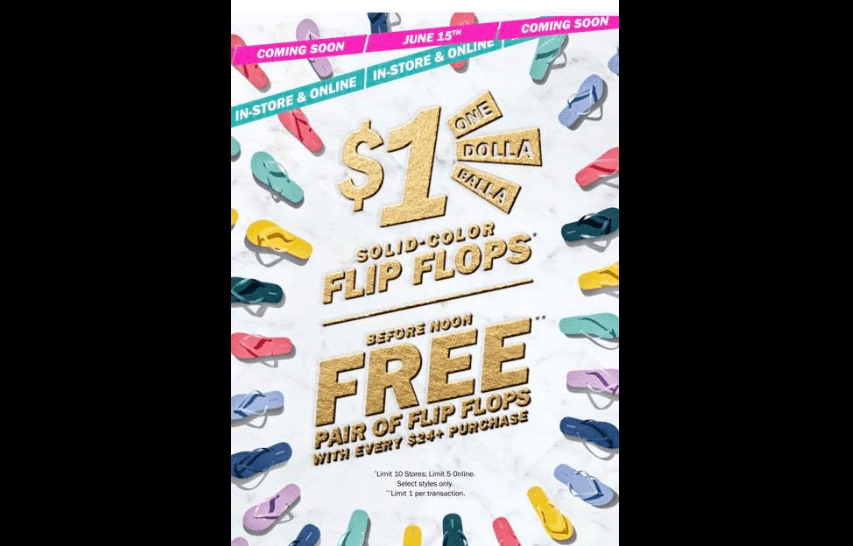 $1 Flip Flops Sale at Old Navy!!