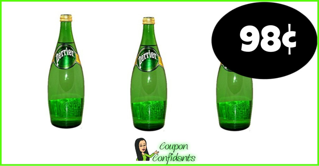 Perrier Sparkling Water 98¢ each at Publix!