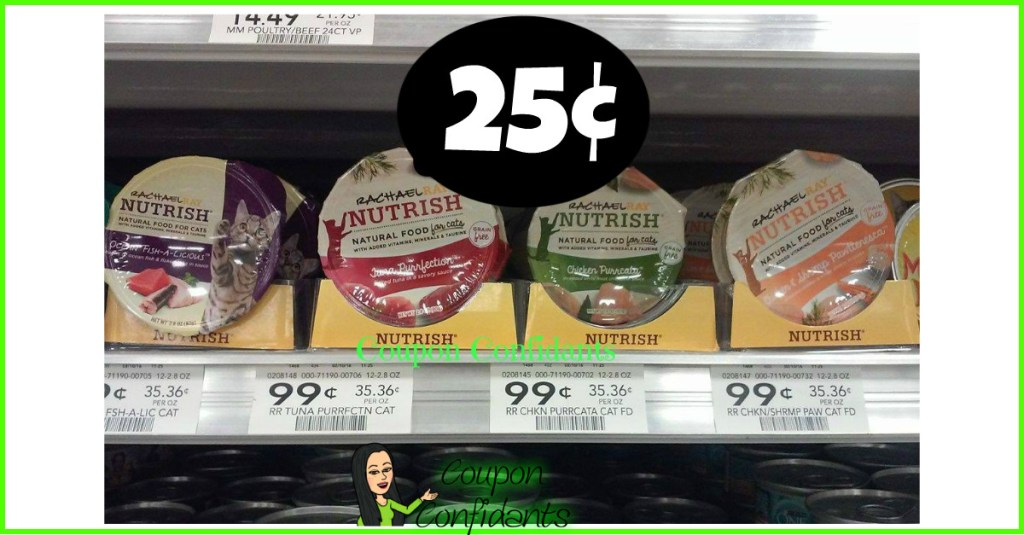 Rachael Ray Cat Food Cups 25¢ at Publix!