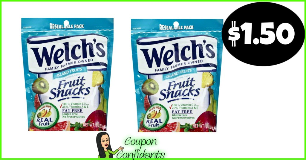 Welch's Fruit Snacks $1.50 at Publix!