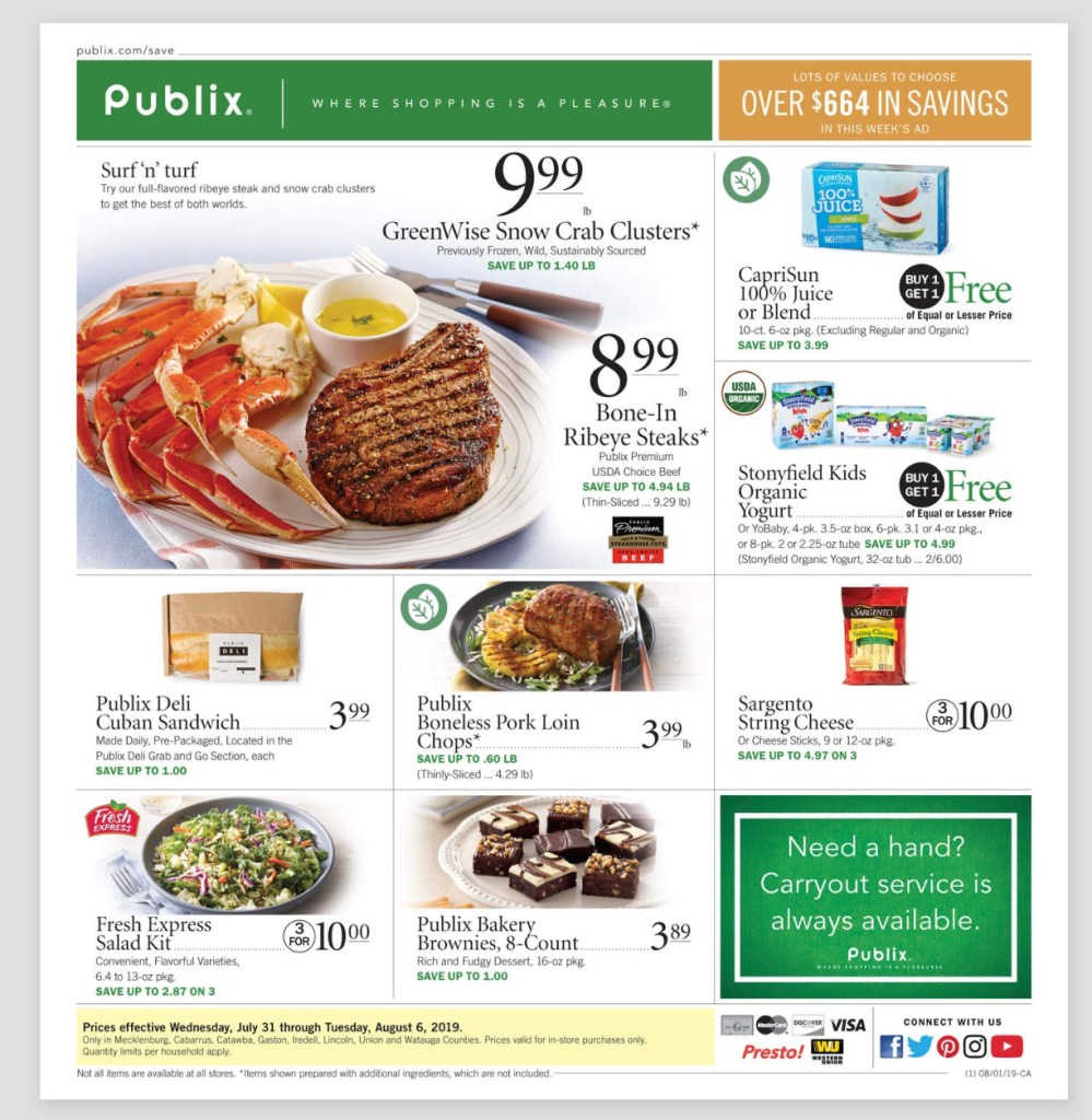 Publix AD and Deals too! 7/31-8/6 or 8/1-8/7