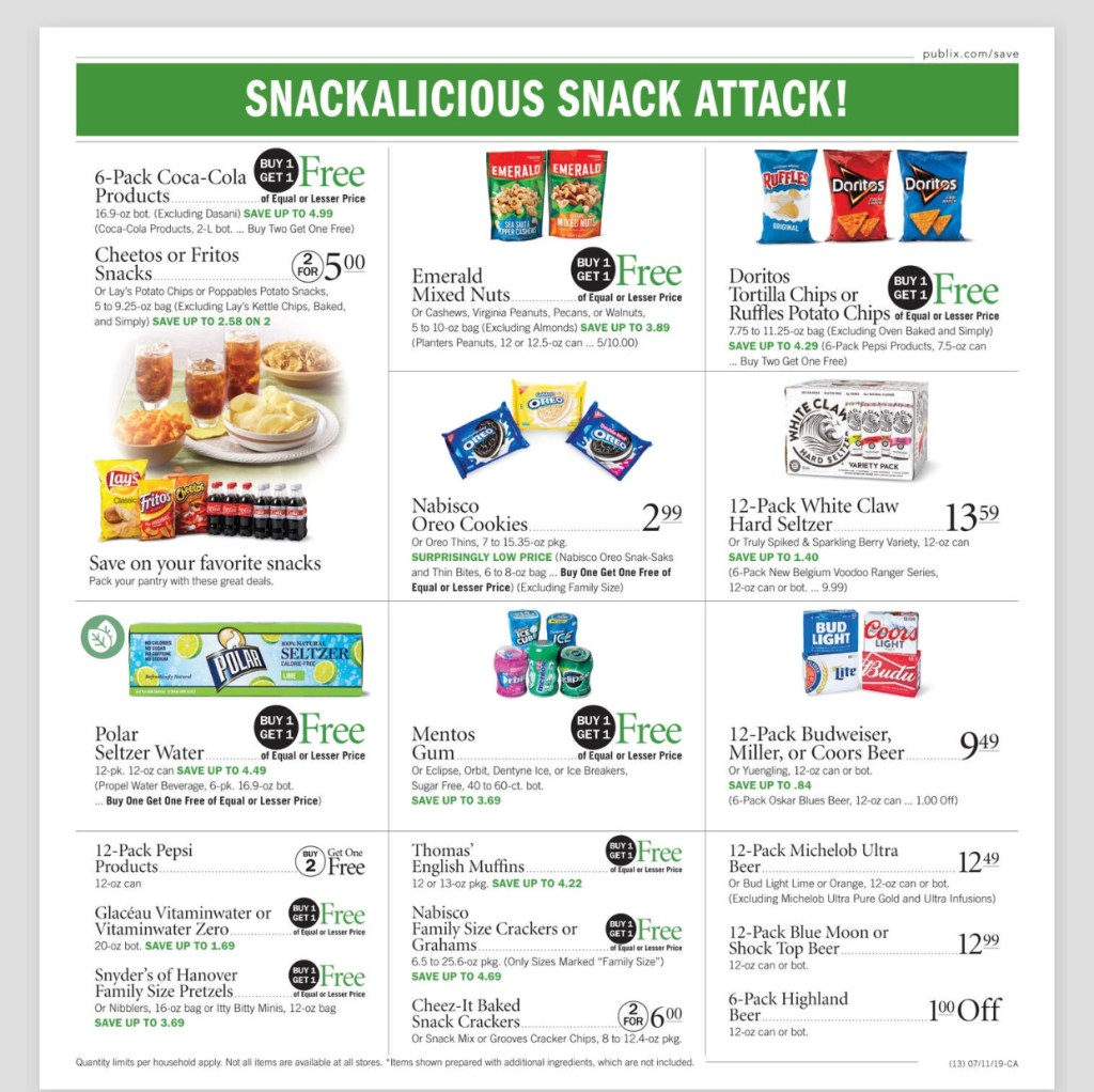 Publix AD and Deals too! July 10-16 or July 11-17