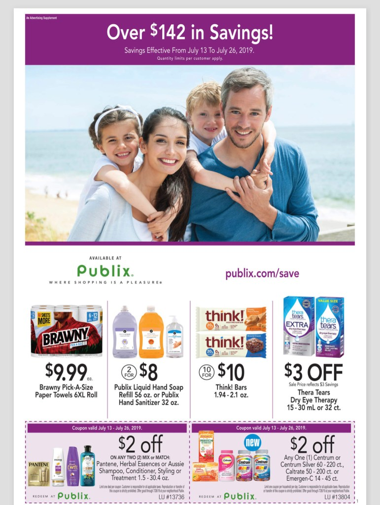 Publix Purple AD and Deals too! July 13-26