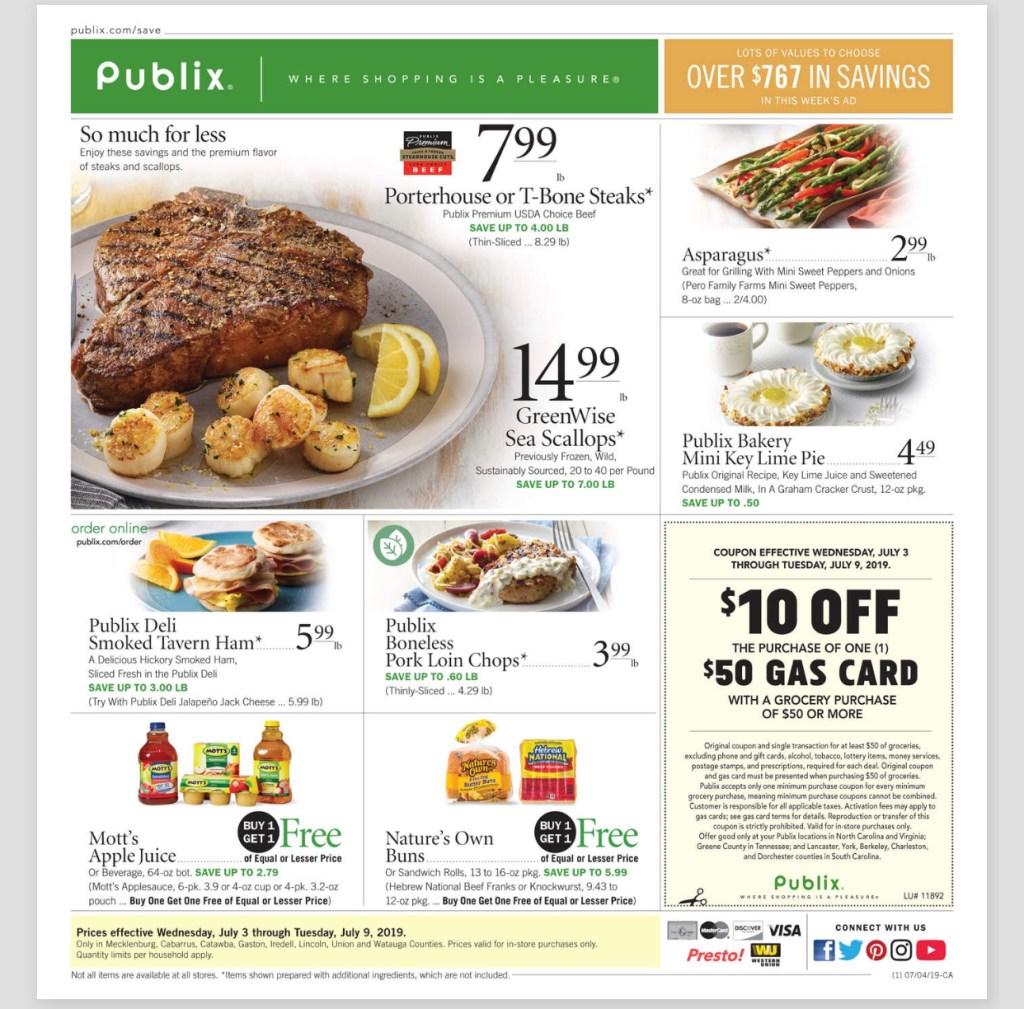 Publix AD and Deals Too! 7/3-7/9 or 7/4-7/10