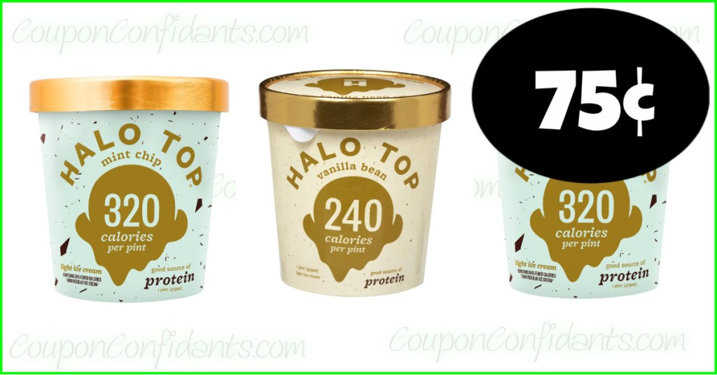 Halo Top Ice Cream $0.75 each at Publix! WOW!