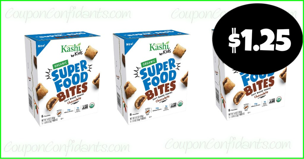 Kashi Kids Bites $1.25 each at Publix!