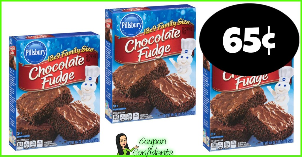 Pillsbury Family Size Brownies 65¢ at Publix!