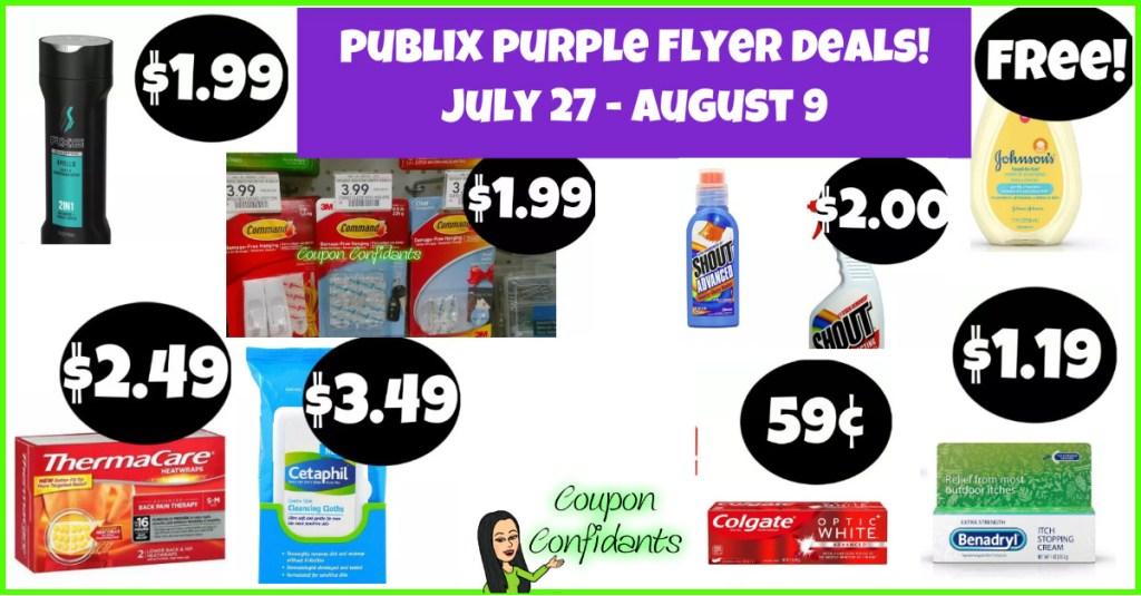 Publix Purple Flyer Best Deals and Full List! July 27- August 9