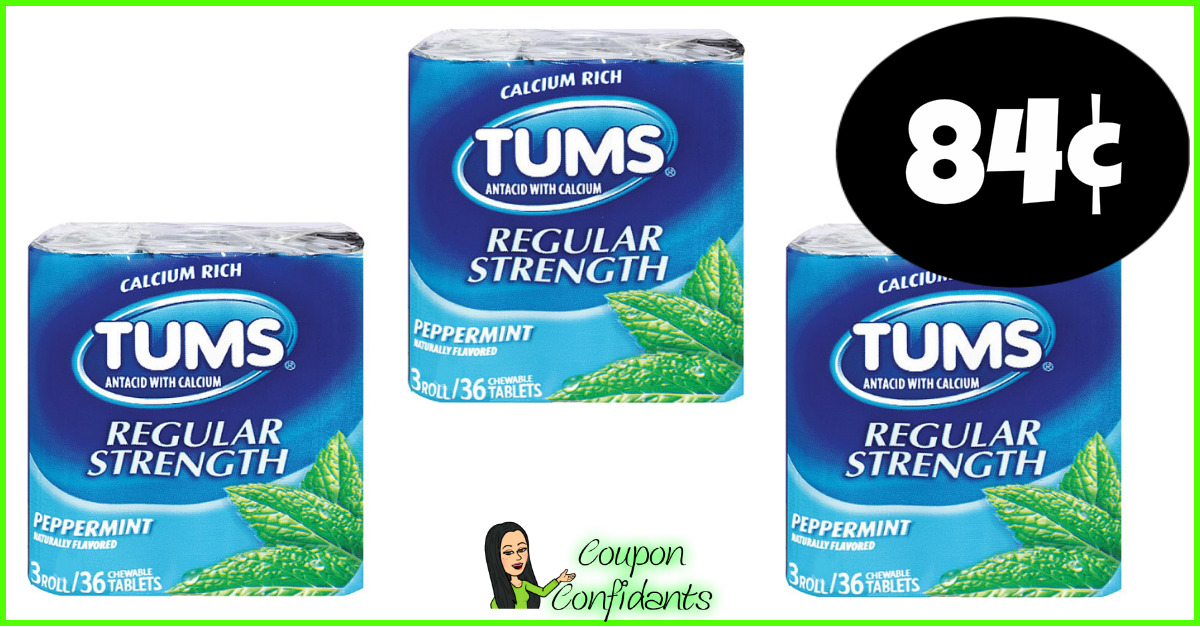 photograph regarding Tums Coupon Printable known as Tums simply just 84¢ at Publix! ⋆ Coupon Confidants