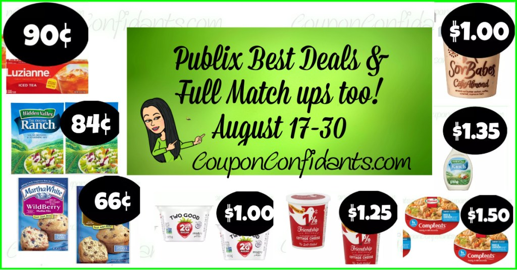Publix Green Flyer BEST Deals and FULL List too! August 17-30