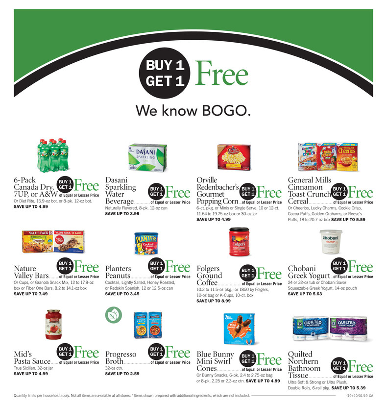 Publix AD Preview 10/30-11/5 or 10/31-11/6