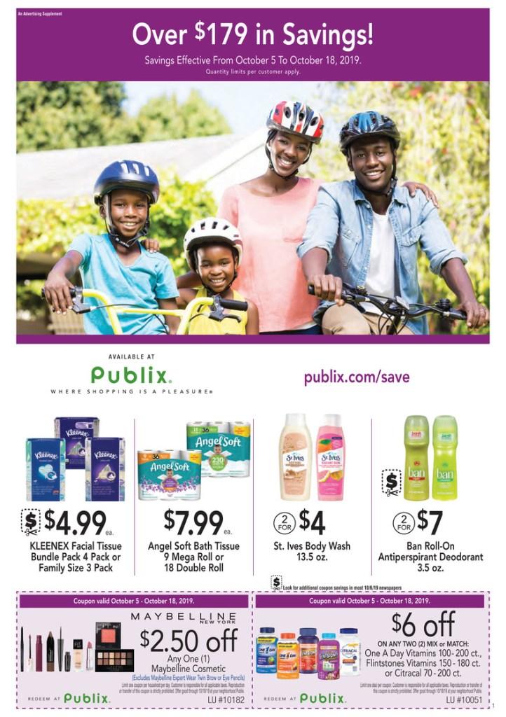 Publix Purple Flyer AD 10/5-10/18