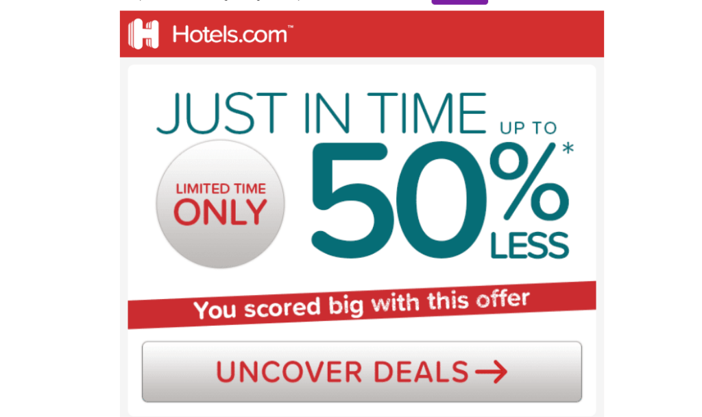 Hotels.com MEGA SALE!! 1/2 off right NOW!